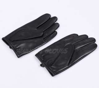 Herren Leder Handschuhe Motorrad Autofahrer Polizei Winterhandschuhe
