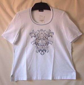 Größe 48 Samoon Shirt Gerry Weber Gr.48 NEU Stretch weiß