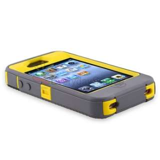 Series Case Cover W/Belt Holster For iPhone 4S Sun Yellow Grey