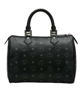 NWT MCM Boston Bag AIR Collection VISETOS Black