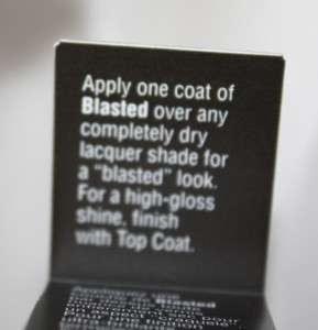New Sephora OPI Nail Polish Laquer Varnish Blasted Silver Metallic