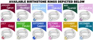 MOTHERS DAY GIFT STERLING 4 BIRTHSTONE RING NECKLACE