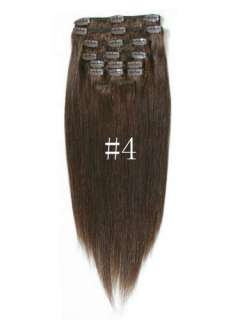 """20"""" 7PCS Straight Remy Clip in real Human Hair Extensions 11 colors"""