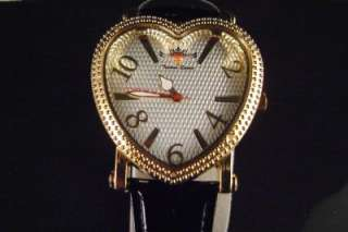 LADIES/WOMENS TECHNO QUEEN YELLOW HEART DIAMOND WATCH