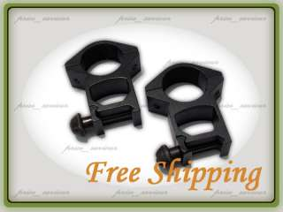 25mm High See Through Weaver Sight Scope Mount Rings