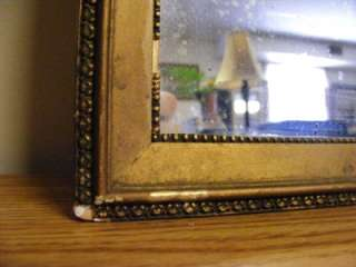 Antique Victorian Parlor Hall Wall Mirror OLD Glass Gold Gilt Guilded