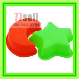 Silicone STAR Moon Shape Cup Cake Mould Maker
