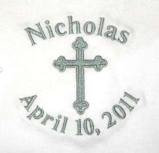 Personalized Boy Girl Baptism CHRISTENING OUTFIT T Shirt Onesie Pants