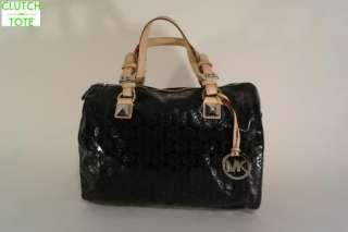Michael Kors Grayson Large Black Satchel Handbag