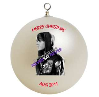 Personalized Custom Justin Bieber Christmas Ornament Add Name