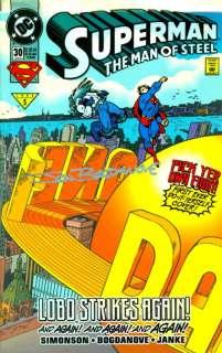 SUPERMAN MAN OF STEEL #30 SIGNED JON BOGDANOVE