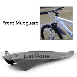 Bike Bicycle Black Front Rear Mudguard Mud Fender Set