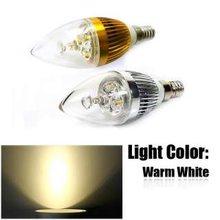 3W E14 High Power Candle Light Energy Saving LED Bulb Multi Color AC85