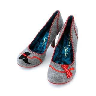 Irregular Choice Scottie Grey New Womens Court Shoes