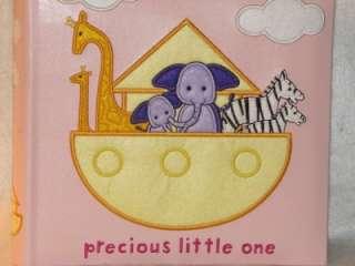 New Baby Girls Pink Noahs Ark Keepsake Photo Album ~Holds 160