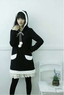 hoodie Japan victoria Angel Wings pullover Korean Lolita BLACK