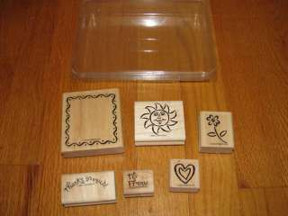 Stampin Up Rubber Stamp Set of 6 FRAMED FUN