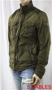NWT Abercrombie Fitch SENTINEL Military Jacket Coat M