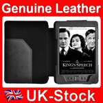Genuine Leather Case Cover with Light for  Kindle 4 4th Wifi