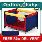 HAUCK PORTABLE SUNSHINE RED DREAM N PLAY BABY TRAVEL COT PLAYPEN
