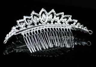 Bridal Wedding Crystal Sparkling Hair Comb T1386