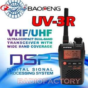 BAOFENG UV 3R Dual Band VHF/UHF 2 Way Radio