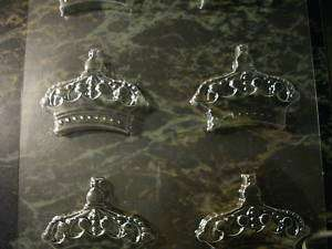 NEW STYLE ORNATE CROWN CHOCOLATE CANDY SOAP MOLD MOLDS
