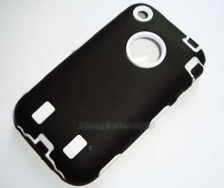 hard durable black white steelers case f iphone 3G 3GS