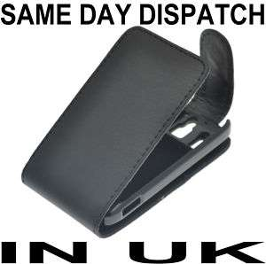 BLACK LEATHER CASE SKIN COVER FOR HTC SMART F3188 UK