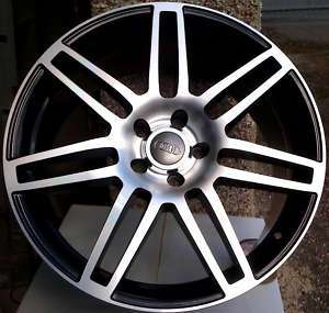 18 RS4 BLACK POLISHED ALLOY WHEELS AUDI A4 S LINE TDI