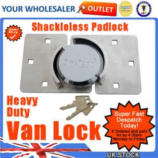 Van Door Shed Garage Padlock Hasp Shackleless HD Lock