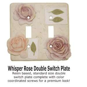 Whisper Rose Pink Floral Double Switch Cover: Home