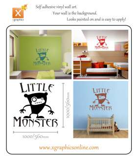 Little Monster childrens kids bedroom wall sticker