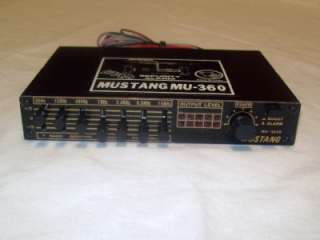 Mustang MU 360B Graphic Equalizer Booster w/ alarm