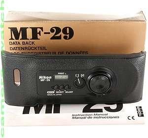 Nikon MF 29 DATA BACK for Nikon F100 / Boxed + Instruction / Extremely