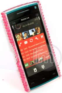 HOT PINK DIAMANTE BACK CASE COVER SKIN FOR NOKIA X6