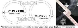 Couvre Volant Cuir 106 207 306 Clio Golf ——Rouge / Noir