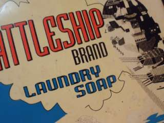 Rare original Vintage THERMOMETER Advertising BATTLESHIP LAUNDRY SOAP
