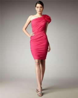 Shoulder Chiffon Dress on 288 Tadashi Shoji One Shoulder Chiffon Sheath Dress 6