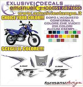 KIT ADESIVI DECAL STICKERS YAMAHA XT 600 E