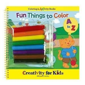 Creativity for Kids Fun Things To Color A To Z: Toys