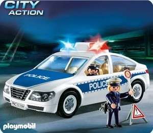 PLAYMOBIL POLICE 5184 VOITURE DE POLICE AVEC LUMIERES CLIGNOTANTES