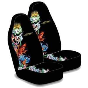 Ed Hardy Koi Fish Seat Covers & Steering Wheel Cover 3 pc