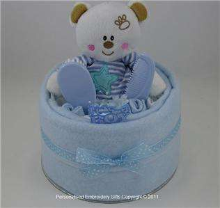 TIER NEWBORN NAPPY CAKE   BABY SHOWERS GIFT FOR BABY BOYS!