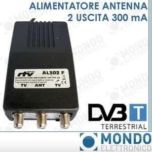 ALIMENTATORE PER AMPLIFICATORE TV ANTENNA DIGITALE TERRESTRE 12V 300ma
