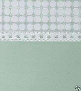 Dolls House Wallpaper   Teapot Tile Green PACK 2 SHEETS