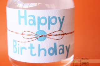 Giggle And Hoot  Hoot  Birthday Small Water Bottle Labels
