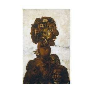 Four Elements   Earth by Giuseppe Arcimboldo. size: 14.25 inches width