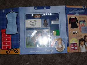 AMERICAN GIRL MOLLYS`FASHION DESIGN PORTFOLIO NEW!