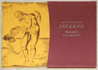 DANTES INFERNO ~ WILLIAM BLAKE ILLUS ~ FOLIO SOCIETY ~ HUGE BOOK, OUT